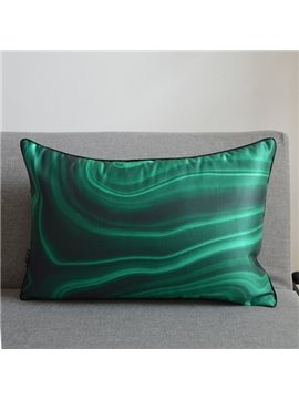 Gorgeous Gradient Color Pillow with PP Cotton Inside Peacock Green Satin Throw Pillow