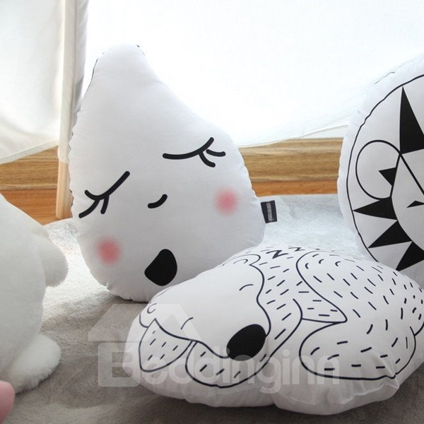Unique Design Rain Drop Shape Cotton and Polyester Throw Pillow