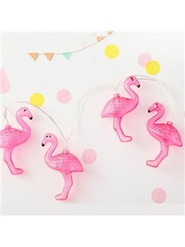 Flamingo Shape Creative 4.92 Inches Long 10 LED Pink LED Lights