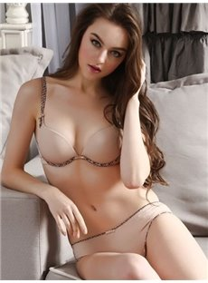 Solid Smooth Luxury Fabrics Sexy Bra Underwear Sets