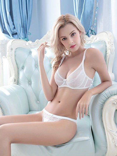 Simple Refinement Plain Design And Sexy Hollow Floral Bra Underwear Sets