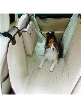 Classic Practical Design With Pocket Popular Rear Car Pet Seat Mat