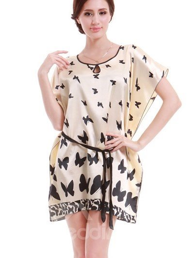 U-Loose And Comfortable With Beautiful Butterfly Pattern Style Sleepshirt