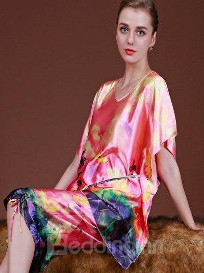 Graffiti Art Style And Lace Up Carft Fashional Sleepshirt