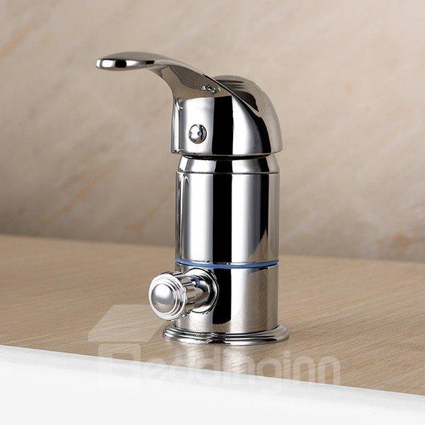 Widespread Contemporary Chrome Finish Bathtub Faucet