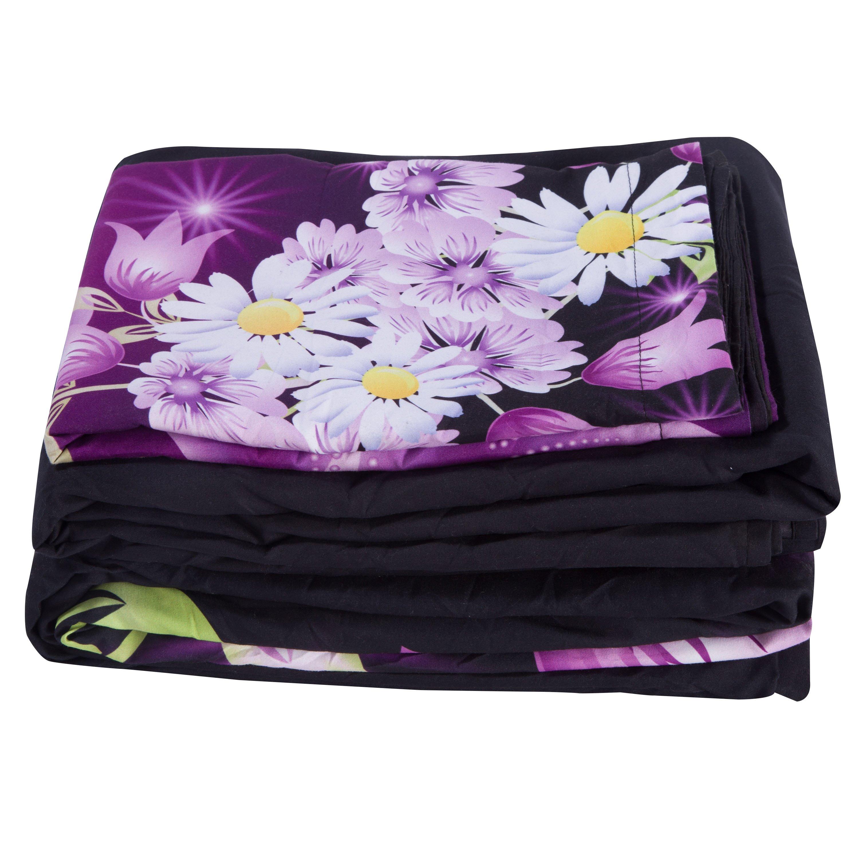 Dreamlike Butterflies and Floret Print 5-Piece Comforter Sets