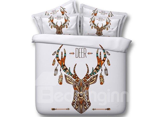 Ethnic Style Deer Print 5-Piece Comforter Sets