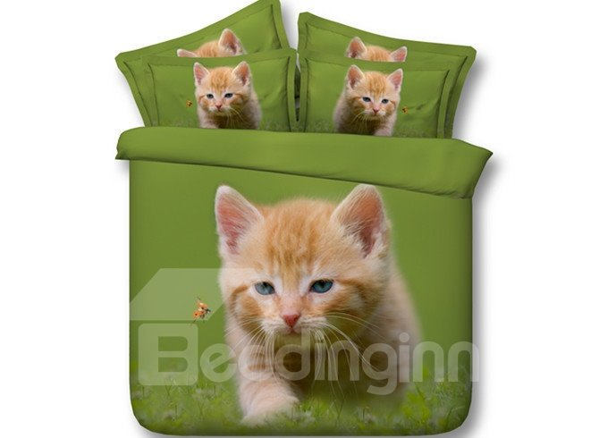 Naughty Cat Ladybird Print 5-Piece Comforter Sets