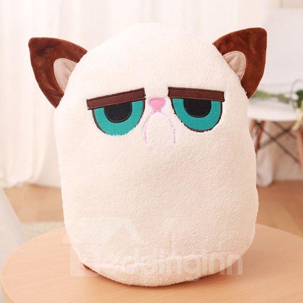 Stylish Cartoon Kitty Design Plush Throw Pillow