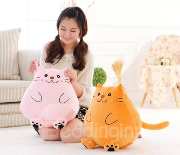 Super Cute Kitty Design Plush Throw Pillow