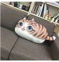 Adorable 3D Kitty Shape Plush Throw Pillow