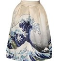 Attractive Surge Pattern 3D Painted Midi Skirt