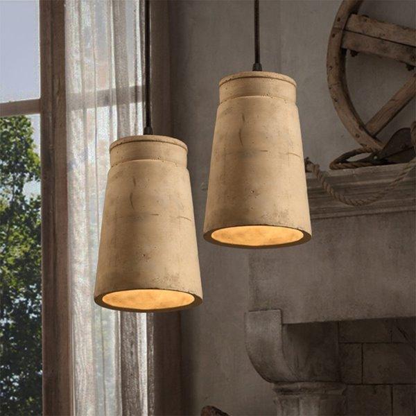 Wonderful Cement Cylindrical Shape Decorative Pendant Light