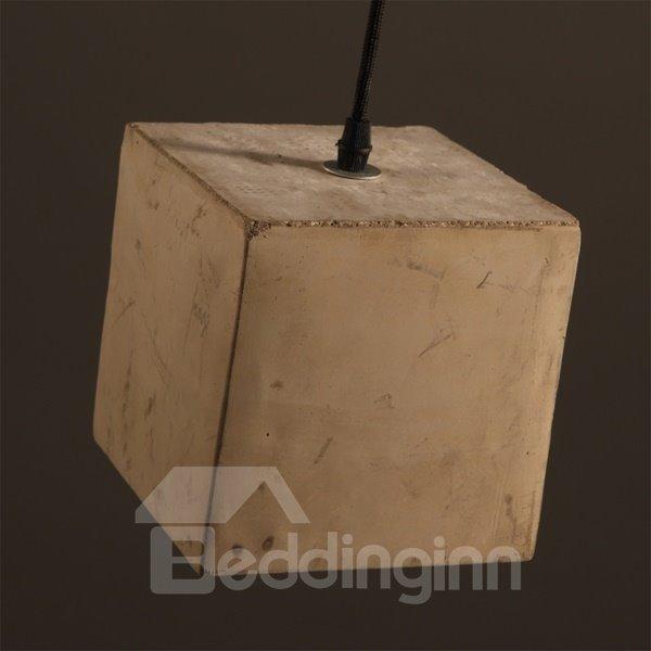 Square Cement Simple Style Decorative Pendant Light