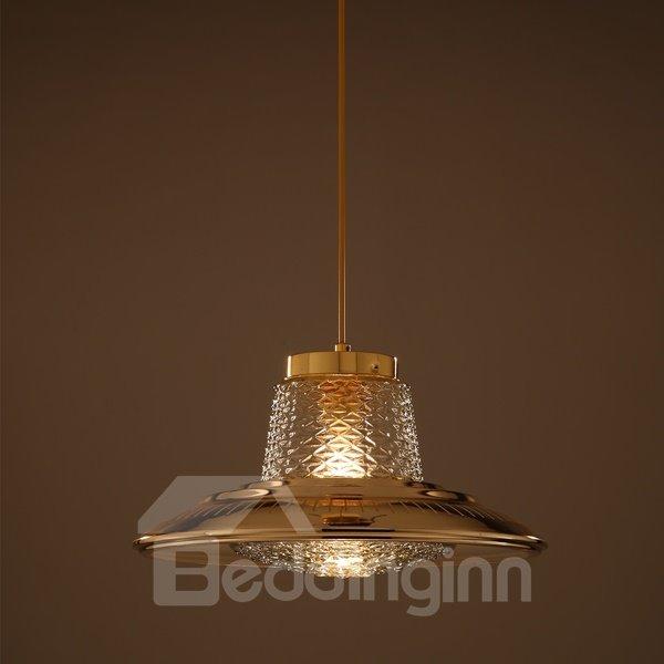 Beautiful Iron and Glass Decorative Pendant Light
