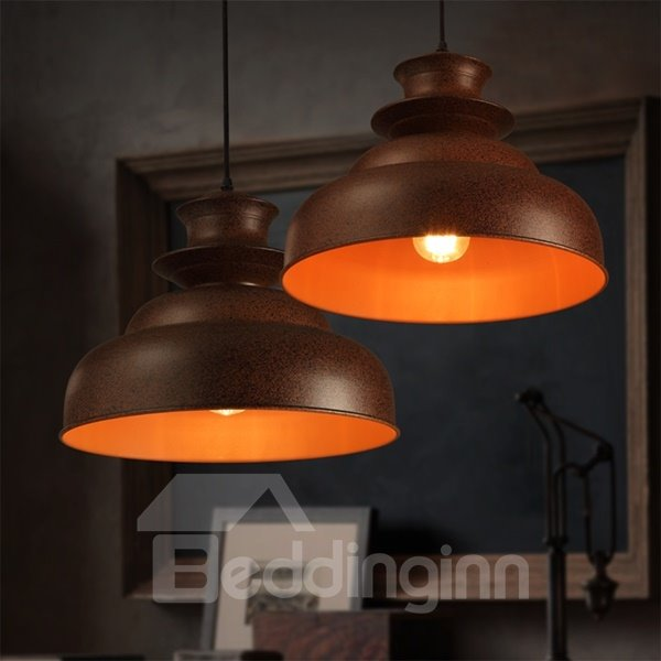 European Style Simple Black Iron Chain Pendant Light