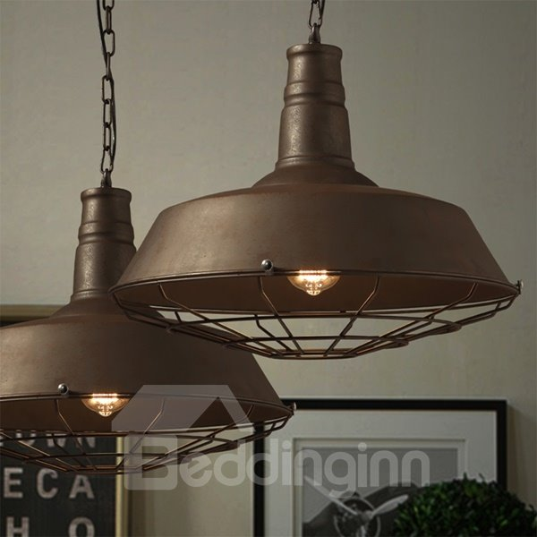 Retro Style Chain Iron Framed Pendant Light