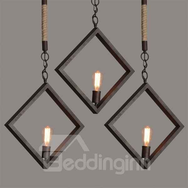 Unique Design Classic Square Shape With One Bulb Pendant Light