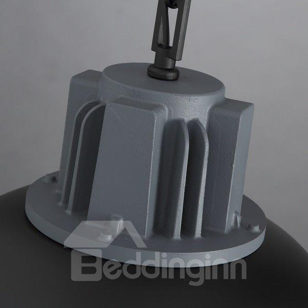 Black Iron Framed Semicircle Shape Decorative Pendant Light