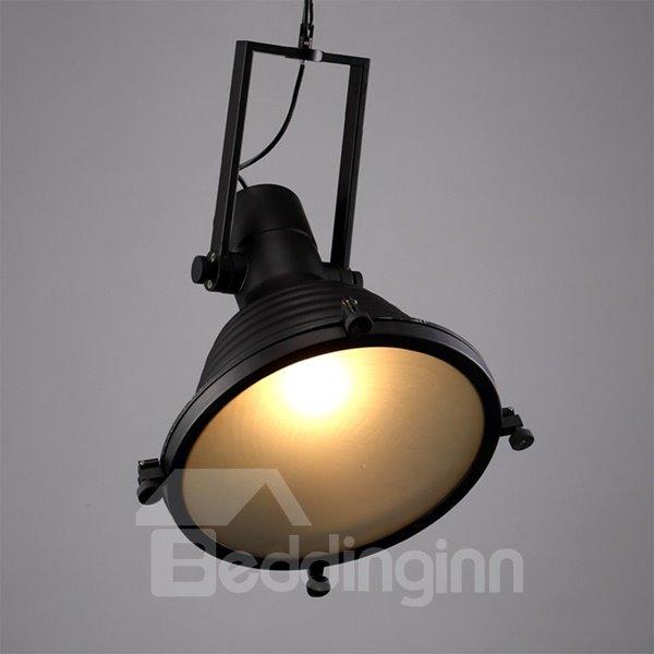 Modern Black Iron Round Shape Chain Decorative Pendant Light