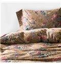Exquisite Colorful Flowers Print 4-Piece Cotton Duvet Cover Sets