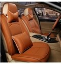 Attractive Classic Pure Color Style Leather Material Dedicated Special Car Seat Cover