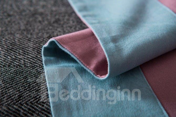 Lush Bird and Tree Print Blue 4-Piece Cotton Duvet Cover Sets