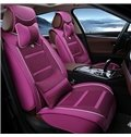 Attractive Fashion Riffles Style Leather Surface Material Universal Car Seat Cover