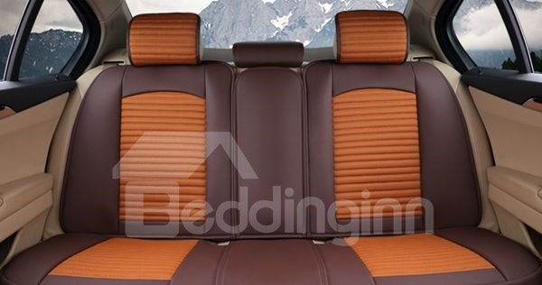 Fashional Popular Mixed Color Design Leather Universal Car Seat Cover