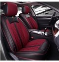 Classic Refinement Retro Solid Design PU Leather Material Universal Car Seat Cover
