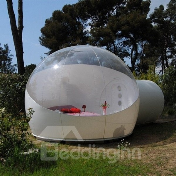 Single Tunnel Inflatable Bubble Lawn Tent Backyard Holiday Family Activities Outdoor Half-Transparent Tent