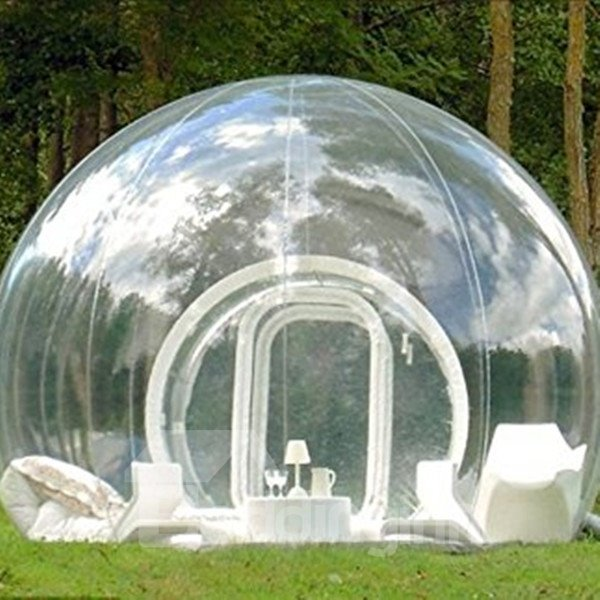 Single Tunnel Inflatable Bubble Lawn Tent Backyard Holiday Family Activities Outdoor Transparent Tent