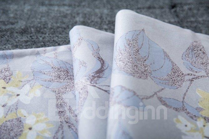 Rural Style Floral 4-Piece Cotton Duvet Cover Sets