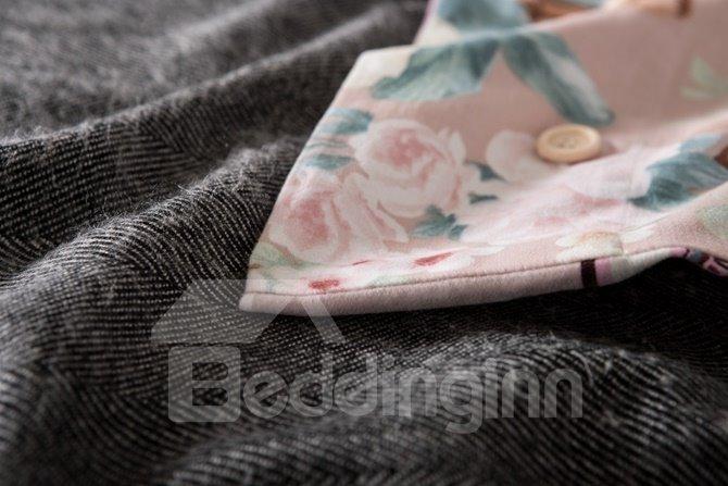 Luxurious Jacobean Reactive Printing 4-Piece Cotton Duvet Cover Sets