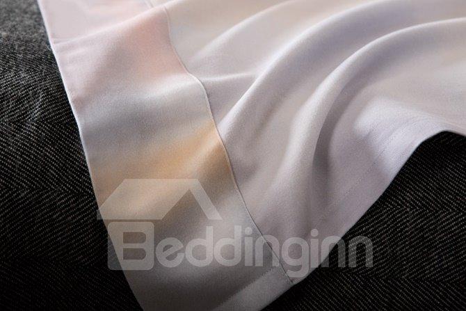 Gradient Color Plaid Print 4-Piece Cotton Duvet Cover Sets