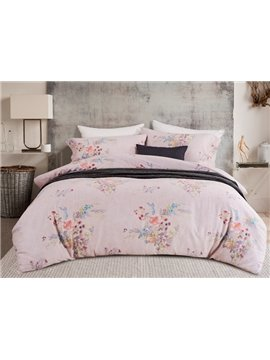 Organic Cotton Unique Floral 4-Piece Duvet Cover Sets