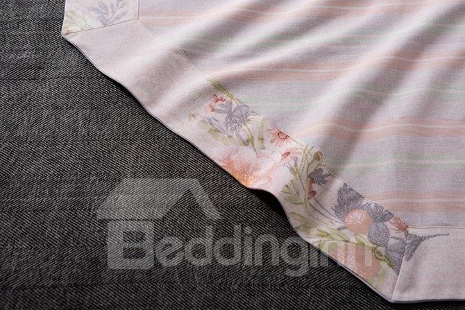 Organic Cotton Unique Floral 4-Piece Duvet Cover Sets