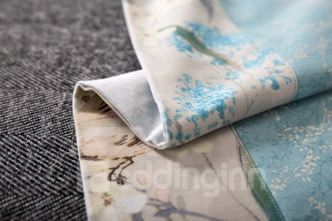 Pastoral Style Adorable Bird Print 4-Piece Cotton Duvet Cover Sets