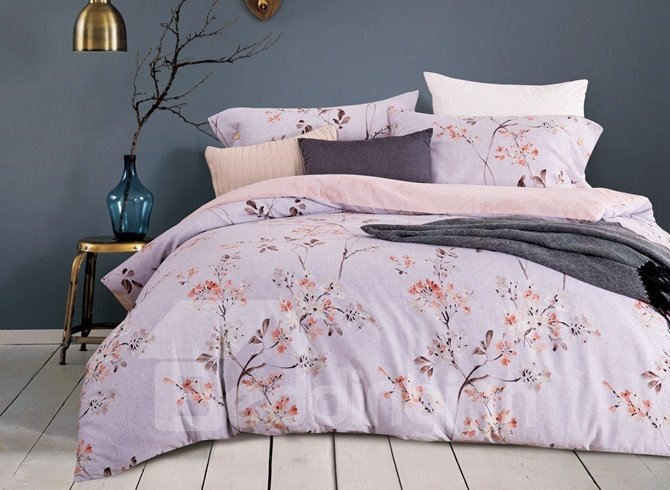 Fancy Rural Style Floral 4-Piece Cotton Duvet Cover Sets