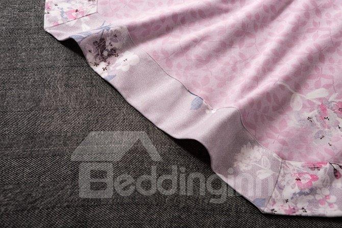 Creative Design Elegant Floret Print 4-Piece Cotton Duvet Cover Sets