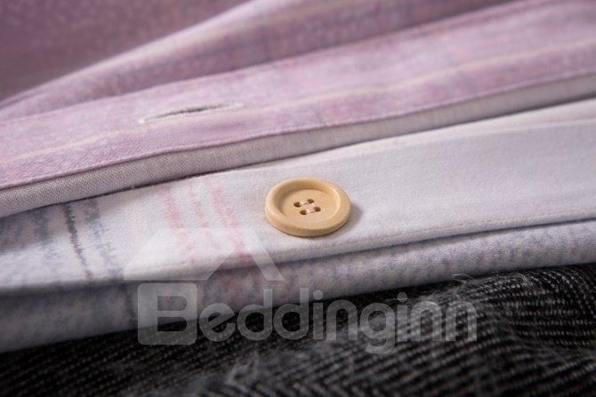 Dreamy Pink Tree Design Comfortable Cotton 4-Piece Duvet Cover Sets