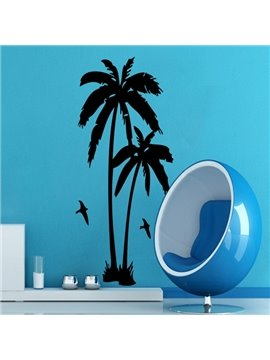 Amazing Palm Tree and Birds Pattern Removable Wall Stickers