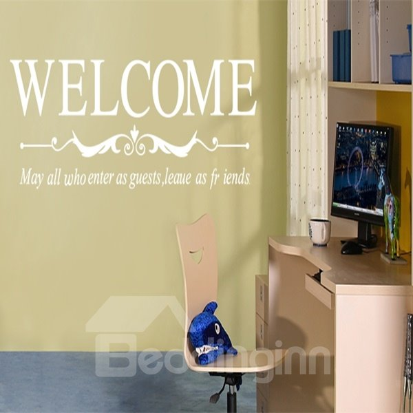 Simple Decorative Welcome Letter Removable Wall Stickers