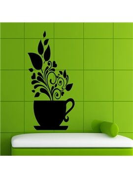 Unique Decorative Pot Plant Pattern Removable Wall Stickers
