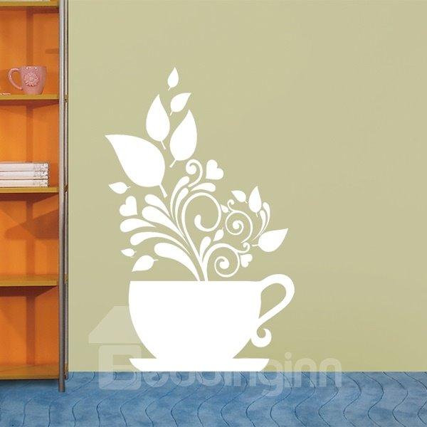 Unique Decorative Pot Plant Pattern Removable Wall Stickers