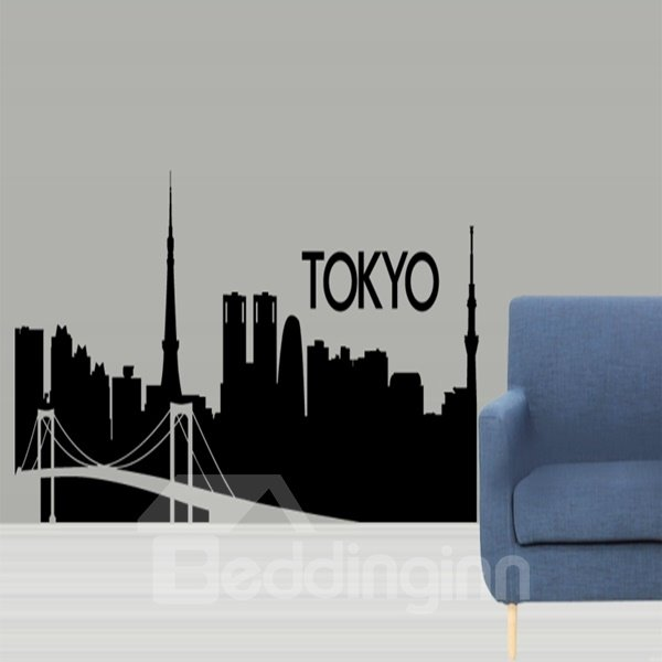 Amazing Design Tokyo Building Shape Removable Wall Stickers