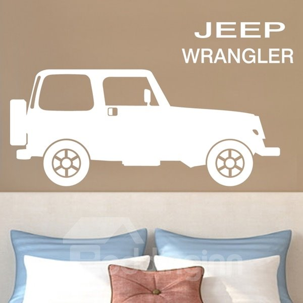 Simple Style Jeep Wrangler Pattern Removable Wall Stickers