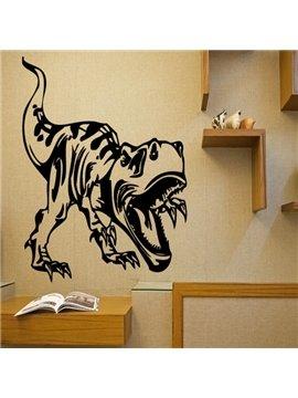 Black Decorative Dinosaur Pattern Removable Wall Stickers