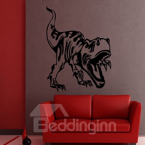 Black Decorative Dinosaur Pattern Removable Wall Stickers
