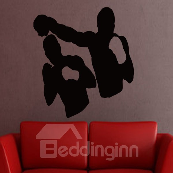 White and Black 2 Boxers Pattern Removable Wall Stickers